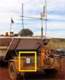 mesh node on solar panel trailer, Australia Mine